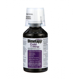 Grape flavored Children's Dimetapp Cold & Allergy Alcohol-Free Liquid Cold Medicine