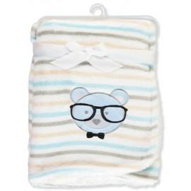 Petite L'Amour Plush Blanket - White/Multi, one Size