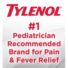 Children's Tylenol Liquid Oral Suspension Medicine With Dye-Free Cherry Flavor