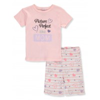 Mon Petit Girls' Daddy's Girl 2-Piece Shorts Set Outfit