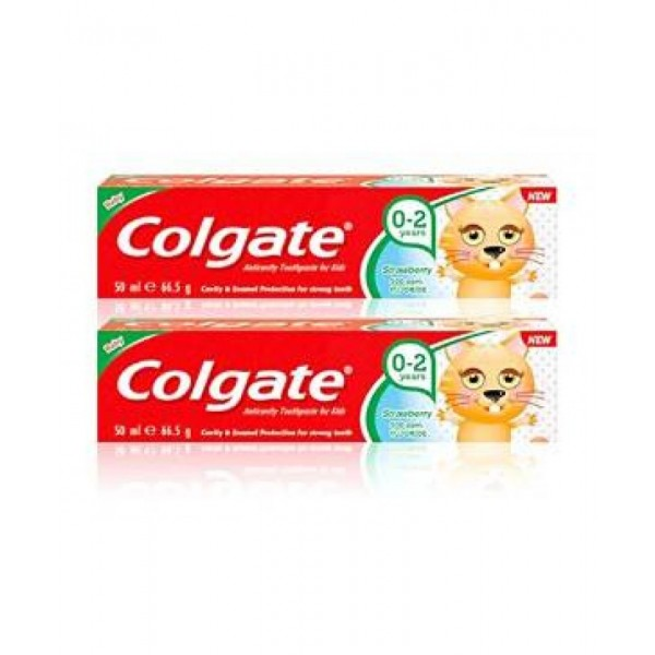 NEW COLGATE TOOTHPASTE MILD STRAWBERRY FLAVOUR FOR KIDS 0-2 YEARS 50ML