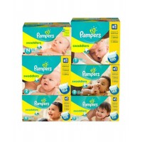 Pampers Swaddlers Diapers (Sizes: 1 – 186ct       ,          2 – 162ct         ,        3 – 152ct      ,           4 – 128ct        ,         5 – 112ct)