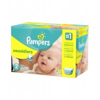 Pampers Swaddlers Diapers, Size 2, Giant Pack, 132 Count